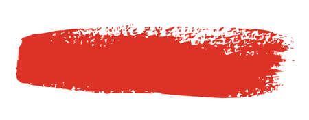 Red brush stroke isolated on white background  Vector