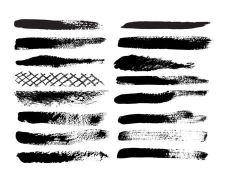 grunge brush: A collection of natural brush strokes