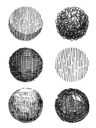 stroked: Artistic hand-drawn sphere