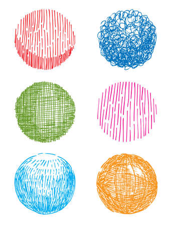Artistic hand-drawn sphere Vector