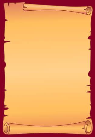 papiro: Carta pergamena Vettoriali