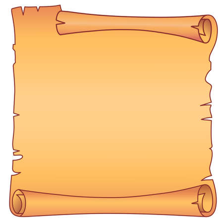 scroll shape: Parchment square scroll