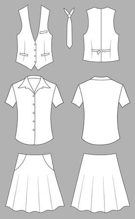 business shirts: Mujer cajero o vendedor de ropa Vectores