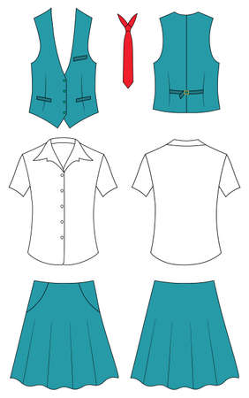 unisex: Woman cashier or seller clothes Illustration