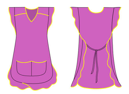 a frill: Woman apron with frills and pockets