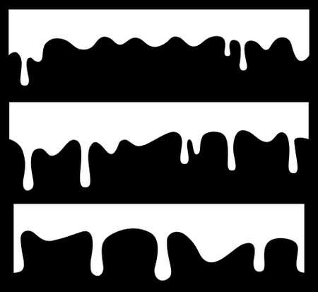 Vector transparente gotea Ilustración de vector