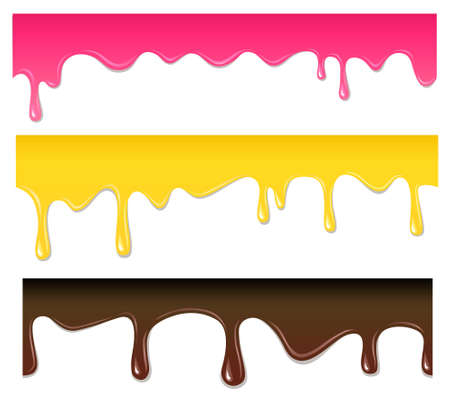 dripping paint: Vector seamless drips