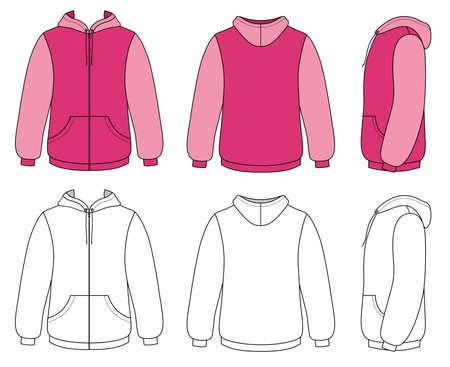 Unisex hoodie Stock Vector - 11357900