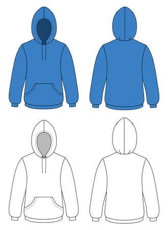 Unisex hoodie Stock Vector - 11357794
