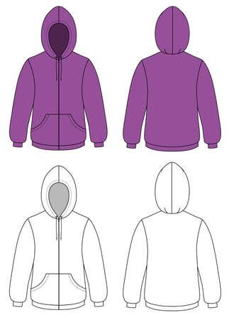 Unisex hoodie Stock Vector - 11358137