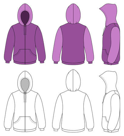 Unisex hoodie Vector