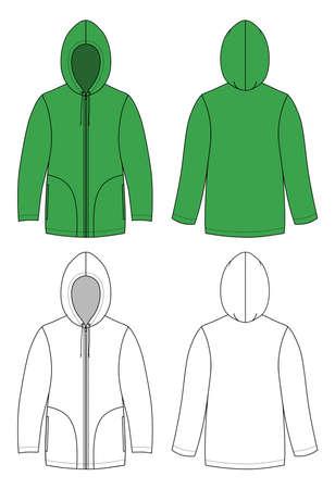 Unisex hoodie Stock Vector - 11358138