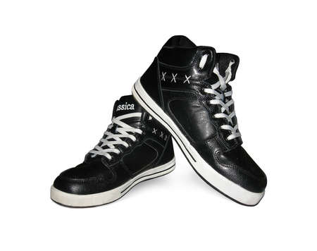 sports shoe: Leather male shoes Stock Photo