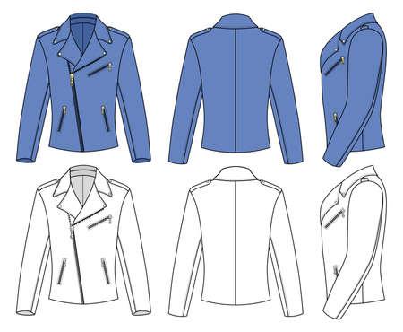 chaqueta de cuero: Chaqueta para hombre Vectores