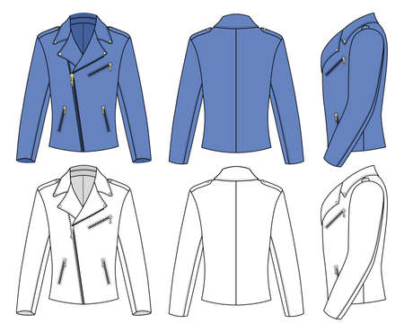 leather coat: Jacket for Man  Illustration