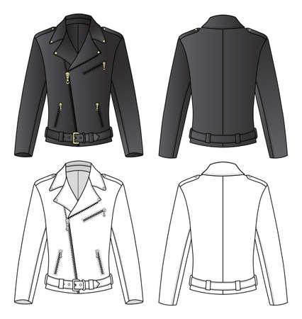 chaqueta de cuero: Chaqueta de cuero para el hombre