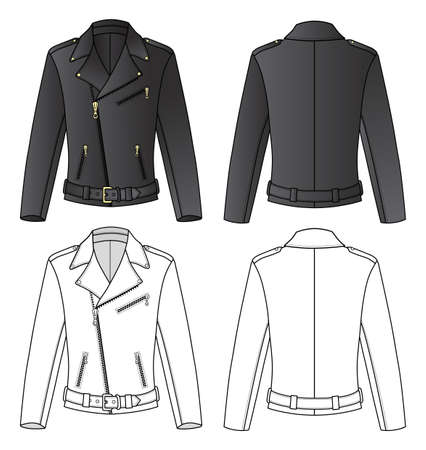white coat: Leather Jacket for Man