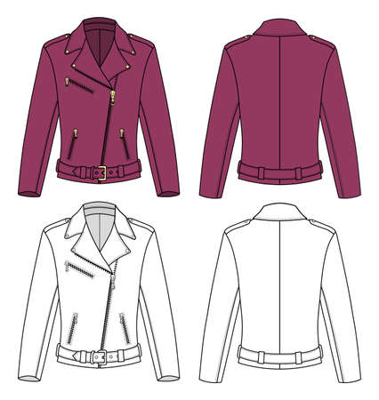 leather coat: Jacket for Woman