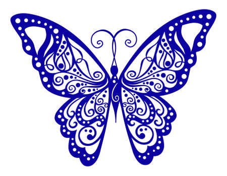 Artistic pattern with butterfly, suitable for a tattoo  Stock Vector - 11357766