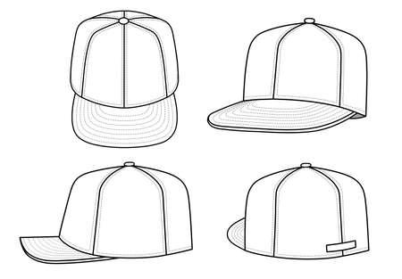 hat with visor: Rap cap (vector)  Illustration