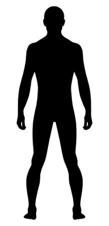 Naked standing man Stock Vector - 11357724