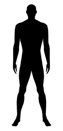 nude male: Naked standing man