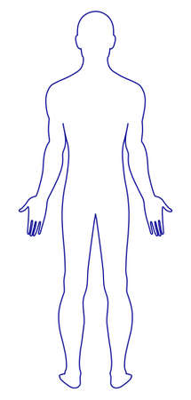 Naked standing man Stock Vector - 11358132