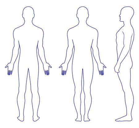 Hombre de pie desnudo