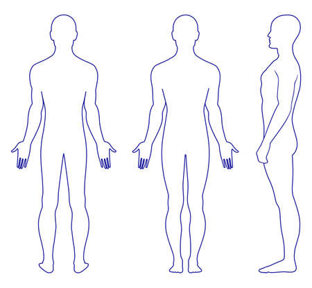 Naked standing man Stock Vector - 11357728
