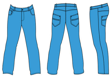 casual wear: Jeans Illustration