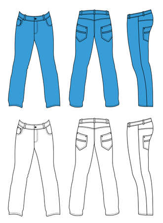trousers: Jeans Illustration