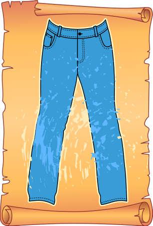 garment label: Label for jeans Illustration