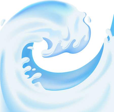 Rising splash of yogurt (illustration)