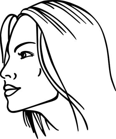 front of the eye: Women face Illustration