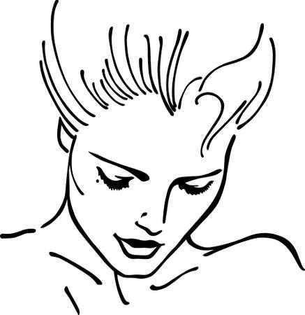 woman isolated: Woman face (vector illustration) Illustration