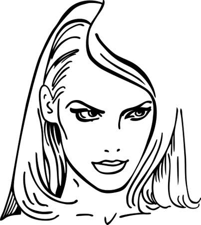 blondie: Woman face (vector illustration) Illustration