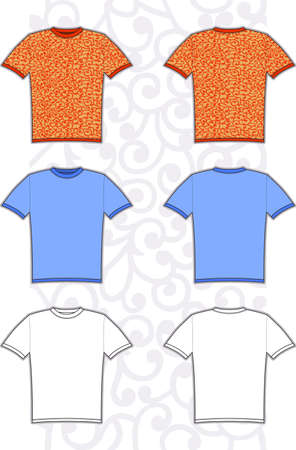 wite: Vector illustration of man tee isolated on white background. T-shirt design.