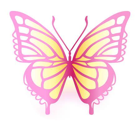 stylize: Gekleurde vlinder Stock Illustratie