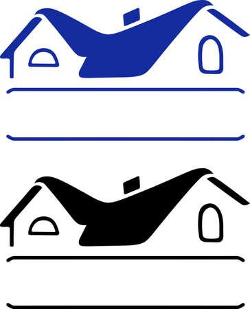 basement: House sign isolated on white background Illustration