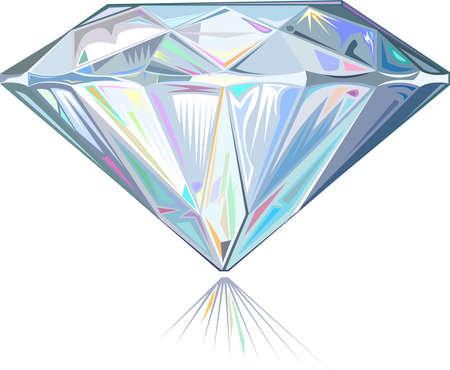Diamond isolated on white background Stock Vector - 17626842