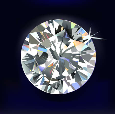 Diamond isolated on dark-blue background Stock Vector - 17626845