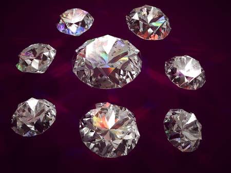 vinous: Diamonds on vinous background, successful trade symbol