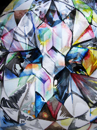 multycolored: Watercolor diamond multycolored texture