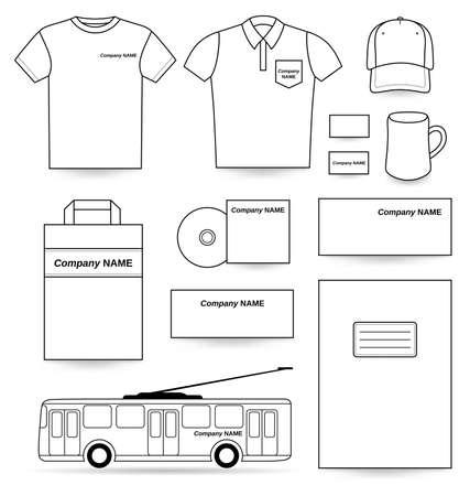 posicionamiento de marca: Plantilla Anuncios conjunto blanco aislado en fondo blanco, ilustración vectorial