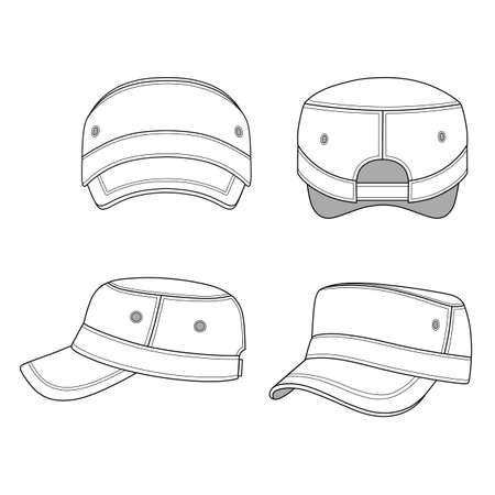 brim: Jeep cap band vector illustration featured front, back, side, top isolated on white. You can change the color or you can add your  easily. Illustration