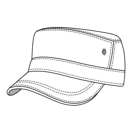 jeep: Jeep cap band front, side vector illustration. You can change the color or you can add your logo easily