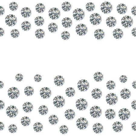 diamante: Gemas dispersas sin costura, pedrer�a aislados sobre fondo blanco, ilustraci�n vectorial