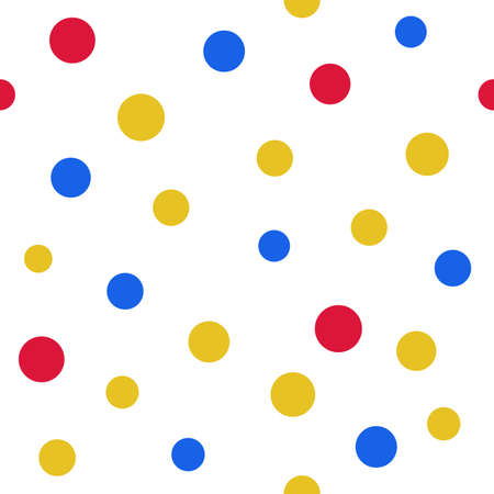 scalability: Pop art polka dot seamless background, vector illustration