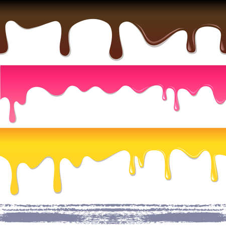 drips: Colored seamless drips background