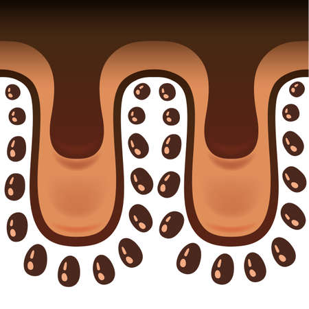 Chocolate seamless drips background Illustration